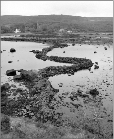Figure 15: Tidal fish trap at Eilean na Carraidh, Mull. Both place name evidence and the archaeological remains enable the types of research into these relatively common features, to be multi-disciplinary and nationwide in their scope ©RCAHMS SC576116