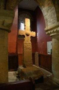 Figure 12: The magnificent 'Dupplin' Cross, which marked the boundary of the royal estate at Forteviot, and commemorates King Constantine mac Fergus (d. 820) in the earliest known inscription to a Scottish king. ©S Driscoll.