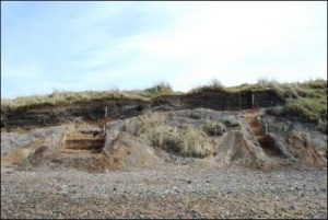 Figure 13: Excavations at Sands of Forvie first millennium AD shell midden ©University of Aberdeen