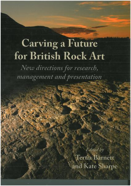 Front cover of Carving a Future for British Rock Art book