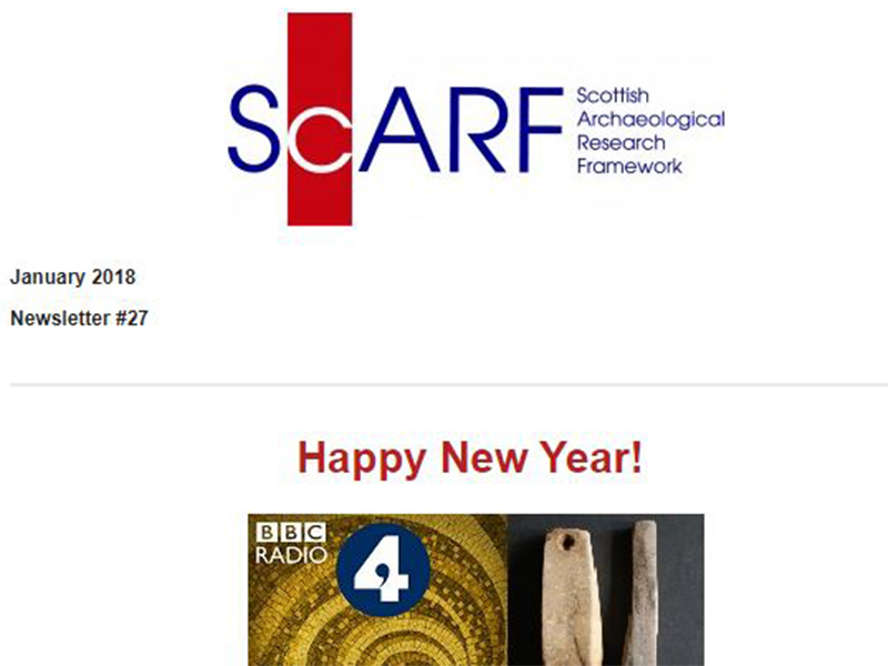 January 2018 – ScARF Newsletter