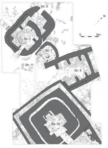A floor plan of the large buildings at Ness of Brodgar in Orkney